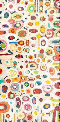 georgia gray, untitled, 2008, acrylic, 15cmx30cm #colorful #circles