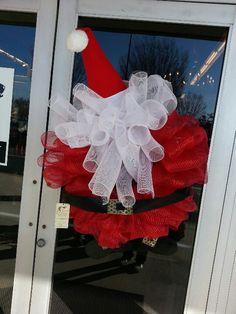 Awesome wreath Deco mesh santa claus