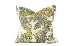 Ming Dragon Decorative Pillow Cover. Golds, Greens and Blues on Off White Background.  Throw Pillow. Toss Pillow. Accent Pillow. by InkandLinenCo on Etsy https://www.etsy.com/listing/217377107/ming-dragon-decorative-pillow-cover