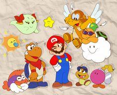 PM64 Gang by Sigyoshi Paper Mario 64, Paper Mario Games, King A, Super Mario Bros, Color Splash, Cool Art, Disney Characters, Fictional Characters, Deviantart