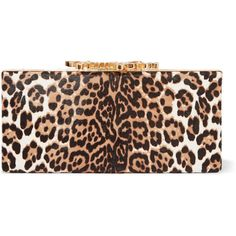 Jimmy Choo Celeste embellished leopard-print calf hair clutch ($1,940) ❤ liked on Polyvore featuring bags, handbags, clutches, animal print, animal print purses, animal print handbags, calf hair purse, leopard handbag and jimmy choo handbags