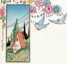 Vintage bluebird graphics