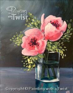 Posh Poppies - Dallas, TX Painting Class - Painting with a Twist