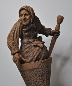 Baba Yaga the Russian Witch Sculpture. http://www.etsy.com/listing/126705741/baba-yaga-the-russian-witch-sculpture?ref=sr_gallery_1_search_query=kali_view_type=gallery_ship_to=US_search_type=all_includes[0]=tags