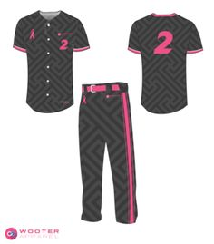 a32d51f81 Black and Pink custom baseball uniforms. Softball Uniforms, Team Uniforms,  Royals Baseball,