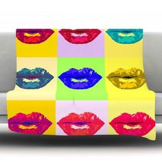 KESS InHouse Pop Kiss by Oriana Cordero Fleece Throw Blanket Size: