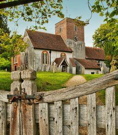 The 12th century St. Mary's Church Hampshire, UK