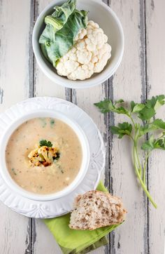 Roasted Cauliflower & White Cheddar Soup