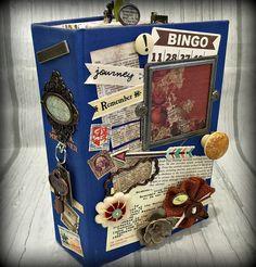 TEXAS BLUE Altered Hardback Book Travel Journal Planner Organizer Junk Journal Smashbook Scrapbook 3 Ring Binder