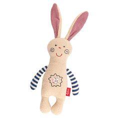 SIGIKID Schmuse-Hase Organic Natural Love mit Rassel aus reiner #Öko-Baumwolle | #Kuscheltier #Babyartikel.de
