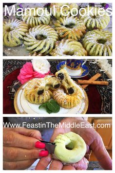 Ma'moul, or Ka'ak bi Ajwa cookies, are buttery semolina cookies filled with rich dates or crunchy walnuts, eaten by Palestinian and Lebanese Christians for Easter only once a year. Here we share our cherished family recipe! Middle East Food, Middle Eastern Recipes, Cake Cookies, Cupcake Cakes, Cupcakes, Kaak Recipe, Culinary Arts, Christians, Family Meals