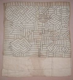 Africa | Kuba people, DR of Congo | Panel of an Applique Dance Skirt | Raffia