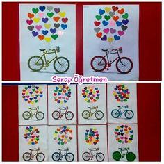 Uçan bisiklet kalp delgeçle  #serapogretmen #serapogretmen_etkinlikleri