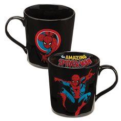 Marvel® Spider-Man Black Ceramic Mug - 12 oz. - Tittles & Bits