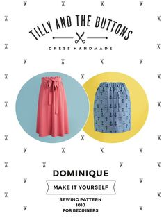 Dominique skirt - easy sewing pattern
