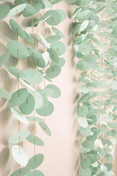 cortina de circulos de papel