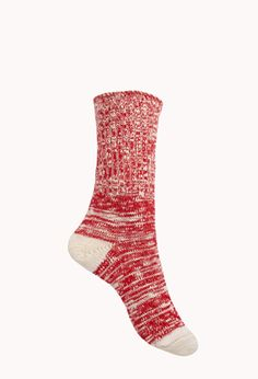 Marled Knit Crew Socks from Forever Shop more products from Forever 21 on Wanelo. Knitting Socks, Hand Knitting, Knit Socks, Knitting Ideas, Knitting Projects, Shop Forever, Forever 21, Crew Socks, Knit Crochet