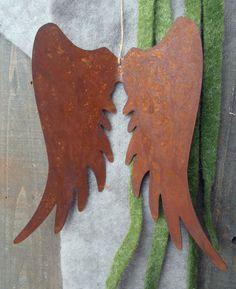 Edelrost Engelsflügel Advent Metall Garten Rost Fensterschmuck Flügel Engel in Garten & Terrasse, Dekoration, Gartenfiguren & -skulpturen | eBay