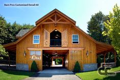 customized by DC Building Barn Pros. Denali series barn