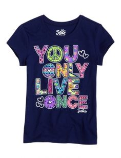 Justice Clothes for Girls Outlet | You Only Live Once Tee | Girls Graphic Tees Clothes | Shop Justice