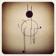 Geometric, circles and lines. Would like to see it inked. Simple tattoo