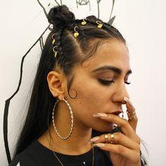 Yassss  Hair by @clmormua and @imarninails nails did  #keashbraids #imarninails…