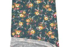 Green Yellow Floral Print knit jersey Fabric 16 by felinusfabrics