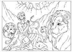 daniel and the lions den coloring pages Love to Learn