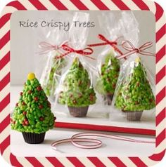 Christmas Treat – Easy Recipe Craft Rice Crispy Trees #christmas #craft
