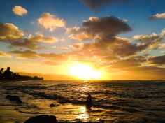 North Shore sunsets...from the beach near Haleiwa town.