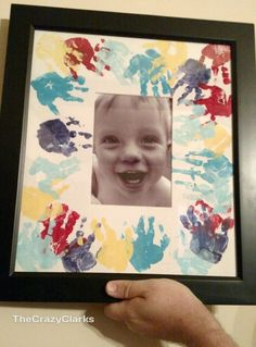 Mother's Day craft idea with handprints. Perfect for mom or grandma. Great to do with a toddler too.