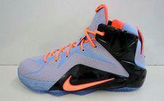 buy online a4307 5edc8 LeBron 12 Easter Aluminum Sunset Glow Hot Lava Black 684593 488 Nike Shoe  Store, Nike