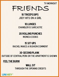 TV Workout: FRIENDS Finally a workout I could do