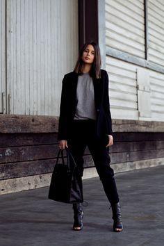 Joie jacket and pants, Asos top, Tony Bianco heels, Benah...