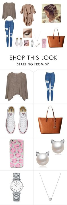 """""""Untitled #50"""" by martaalmeida-i on Polyvore featuring Topshop, Converse, MICHAEL Michael Kors, Longines and Links of London"""