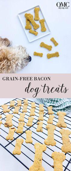 Homemade, grain-free, and puppy approved bacon dog treats! | OMC Blog #ChristmasHomemadeDogTreats