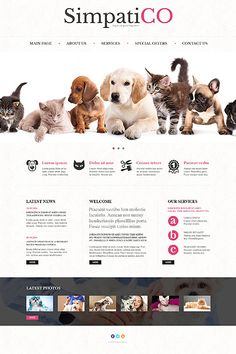 Template 50552 - Pets Responsive Website Template
