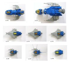 Lego MOC Classic Space Fleet by legoloverman