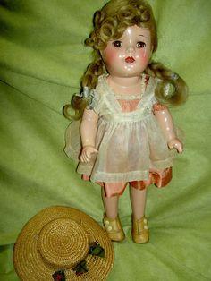 "Wonderful 13"" Alexander compo. ""McGuffey Ana"" doll, all original & tagged 1937 #DollswithClothingAccessories"