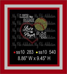 Like the Game Love the Player Instant Download Rhinestone & Vinyl SVG EPS by MyFileAddiction