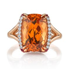 Gorgeous #Spessartite #Garnet with #Diamonds in #RoseGold, from our friends at Omi Privé!