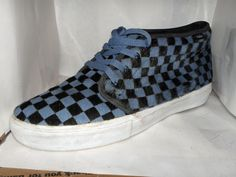 VANS MENS BLUE/BLACK PONY HAIR FASHION SNEAKERS SIZE 12 M #VANS #FashionSneakers