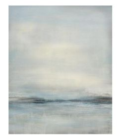 "Tranquil and peaceful, ""Zen Fields"" is breathtakingly soothing and neutral. This abstract landscape has soft grays, whites and barely blues blended together to create this soft, quiet abstract. It's e"
