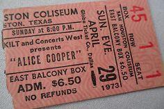 ALICE-COOPER-lt-1973-gt-Original-CONCERT-Ticket-STUB-Houston
