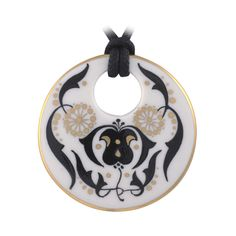 Zema arany mintával díszített porcelán medál Washer Necklace, Jewelry, Jewlery, Jewels, Jewerly, Jewelery, Accessories