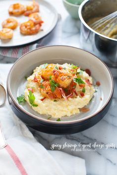 Spicy Shrimp and Goat Cheese Grits
