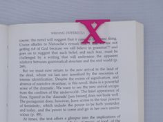 Bookmark Monogram. Initial / Letter X  in Pink Strong & Flexible Polished