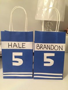 Hockey themed loot bags I made for my sons birthday party. Sports Birthday, Sports Party, Hockey Birthday Parties, Boy First Birthday, Birthday Party Themes, Birthday Fun, Birthday Ideas, Hockey Party, Skate Party