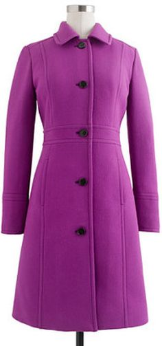 Here's the coat Malia Obama had on, J.Crew announced they will be retiring this color and any other J.Crew colors the Obamas had on. Guess you better get it now while it's still available! lol Double-cloth lady day coat with Thinsulate® Coats For Women, Jackets For Women, Clothes For Women, Malia And Sasha, Ladies Day, Fashion News, J Crew, My Style, Malia Obama