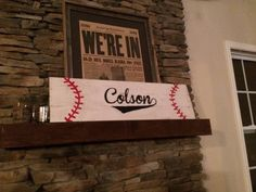 Personalized Baseball themed wooden sign